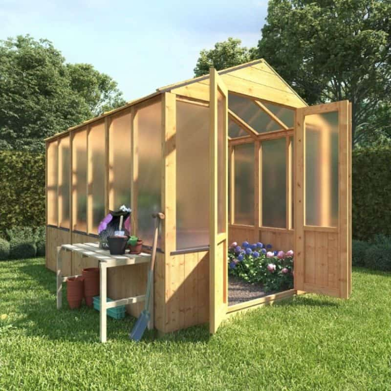 BillyOh 4000 Lincoln Wooden Polycarbonate Greenhouse