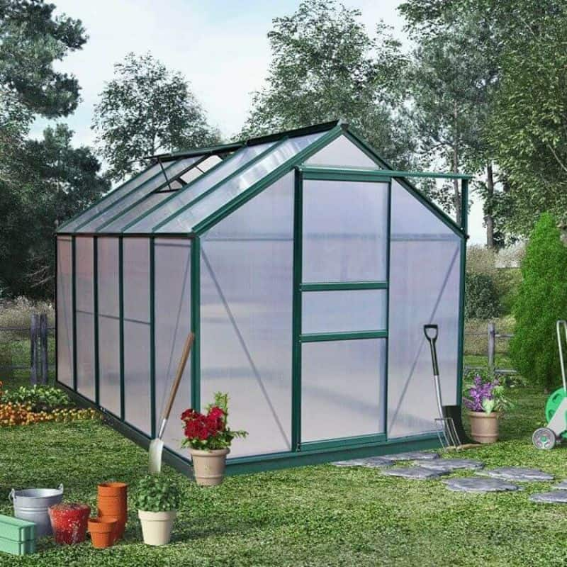 Get double glazing for more efficient greenhouse heating