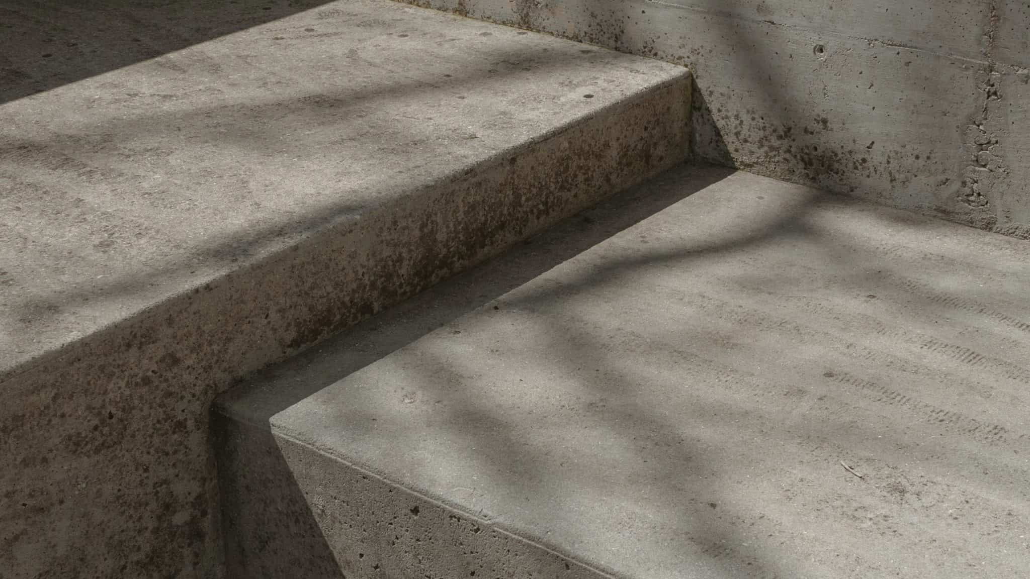 concrete steps with shadows on them