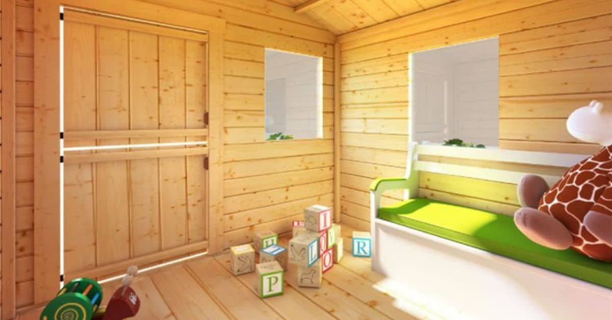 Designing a log cabin playhouse