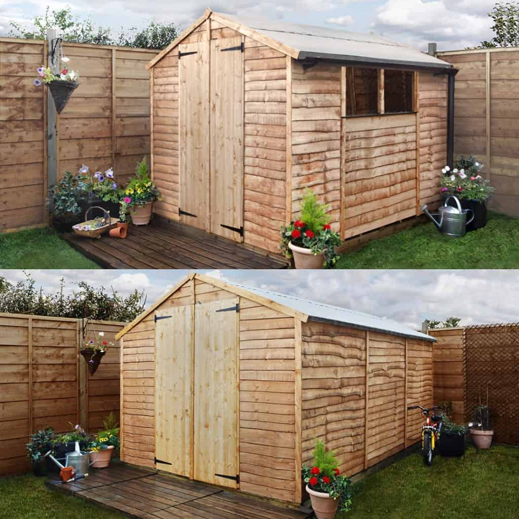 double image gable size1 The New and Improved BillyOh 20 Range of Wooden Garden Sheds
