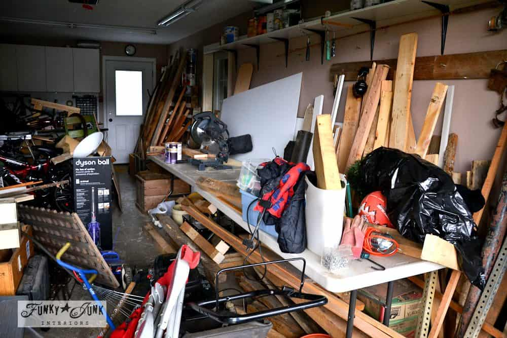 garage cleanup Funky Junk Interiors 0332 1000x667 Brilliant Garden Shed and Garage Organising Ideas (A Complete Project Guide)