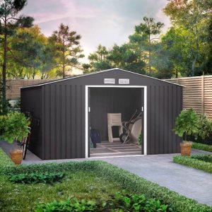 metal bike shed
