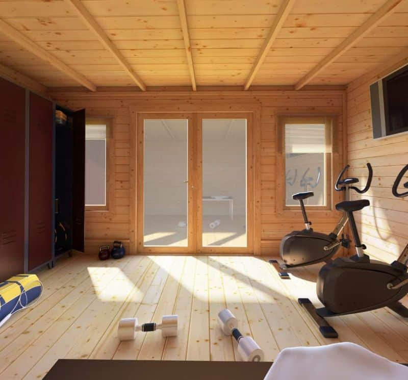 Decorate your log cabin gym