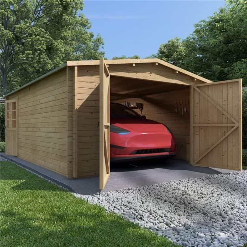 aston wooden garage