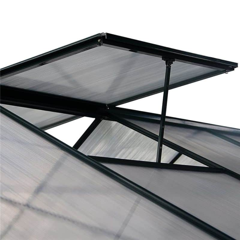 Air circulation is crucial for a greenhouse