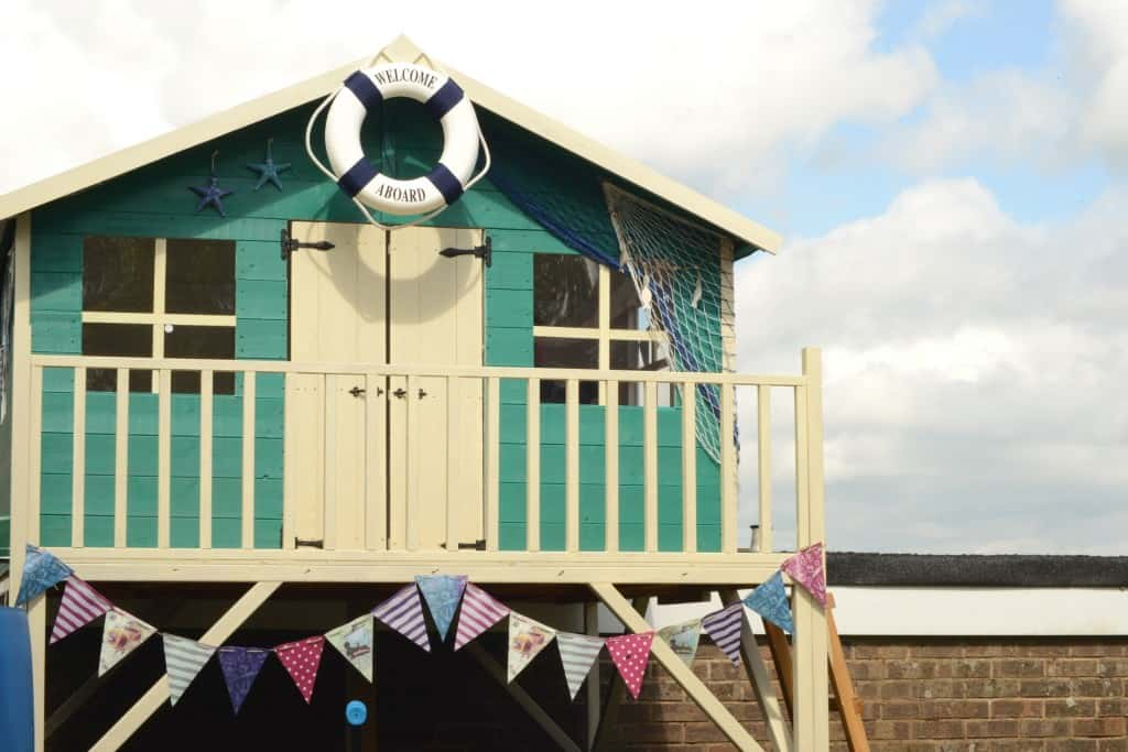 Lollipop Max Tower painted Turquoise with seaside decorations