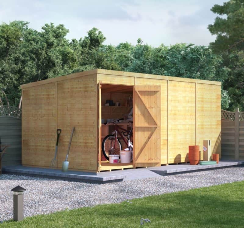 Using your large shed as a bike store