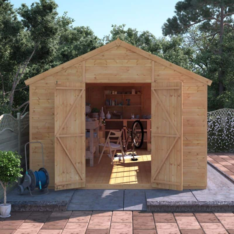 Where should you install a large shed?