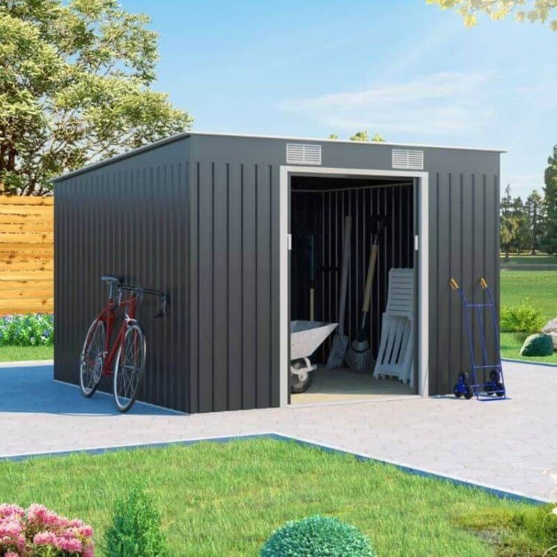 lawn-mower-storage-ideas-4-pros-of-metal-sheds