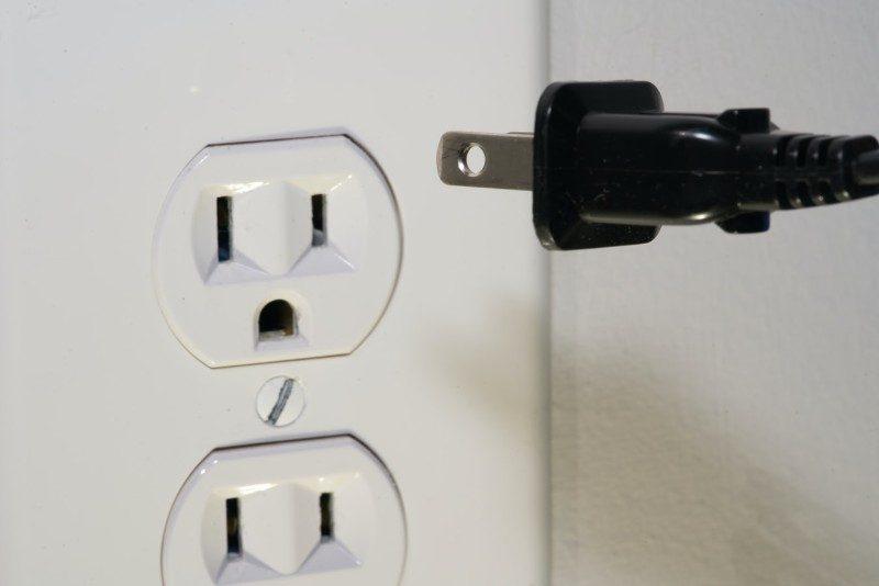 plug socket and European black plug