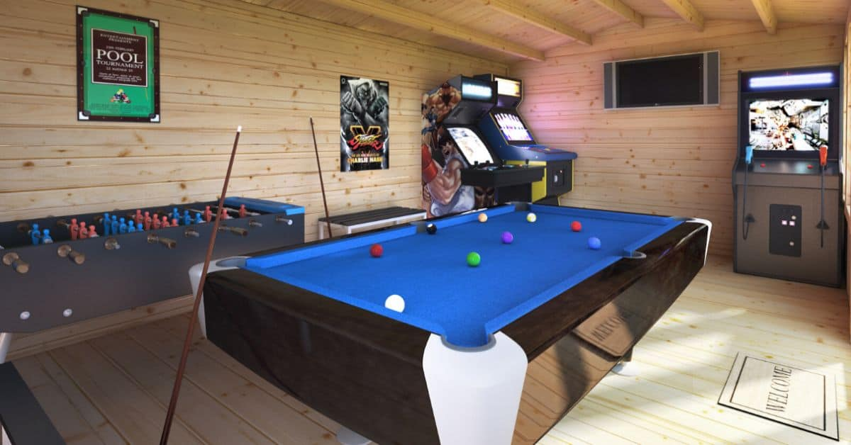 creating a log cabin games room