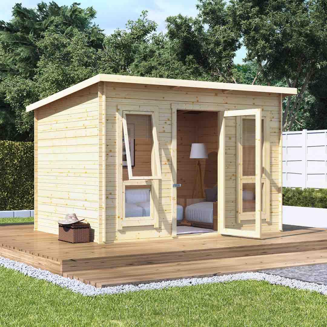 Contemporary Log Cabins - The BillyOh Carmen Log Cabin Summerhouse
