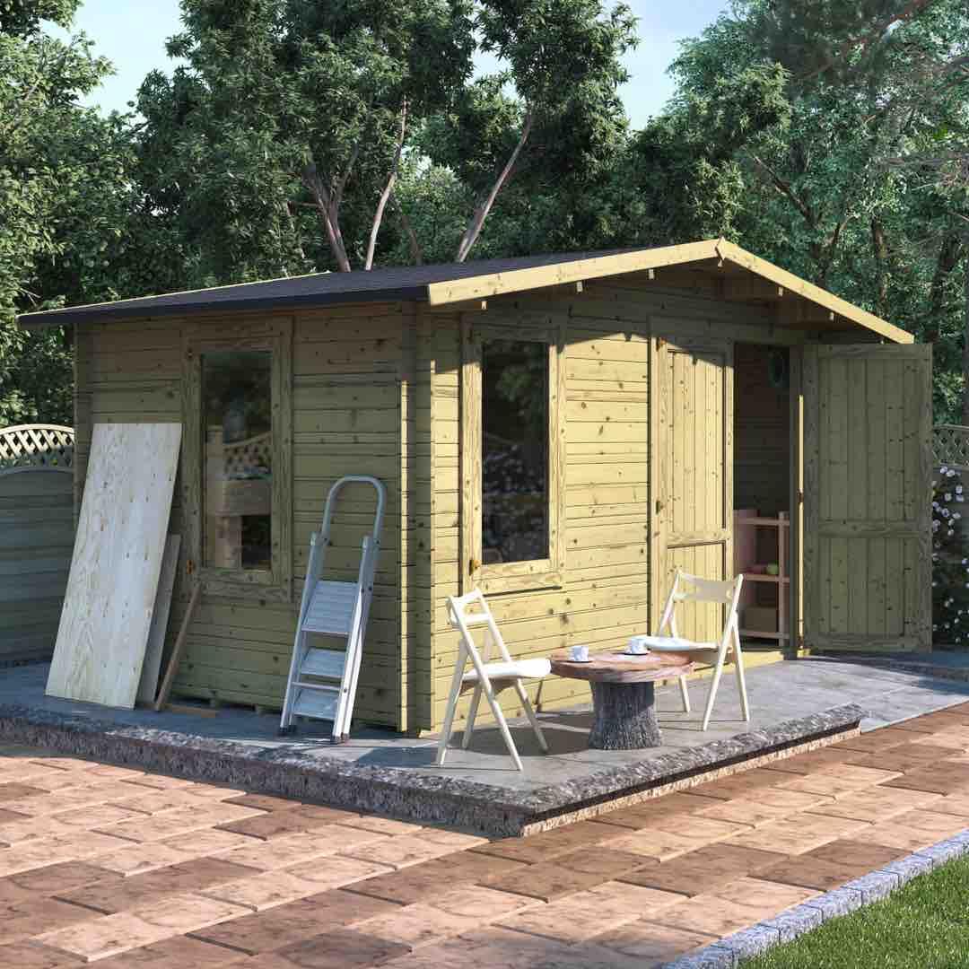 Log Cabin sheds - The BillyOh Alpine Workshop Log Cabin