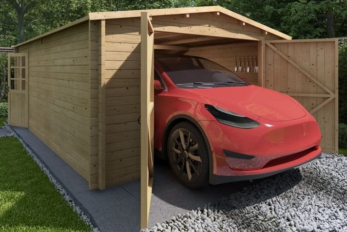 wooden garage guide