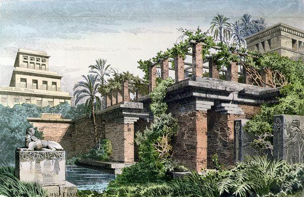 new old 7 wonders hanging gardens babylon iraq 18308 600x450 600x388 The Hanging Gardens of Babylon
