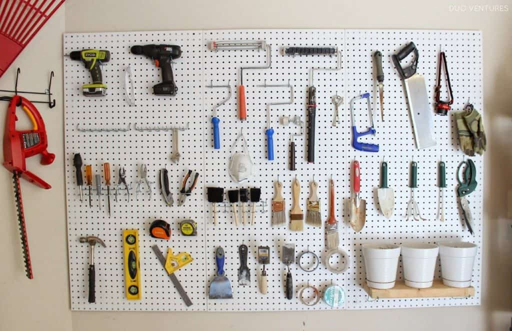 pegboard duoventures 1024x662 Brilliant Garden Shed and Garage Organising Ideas (A Complete Project Guide)