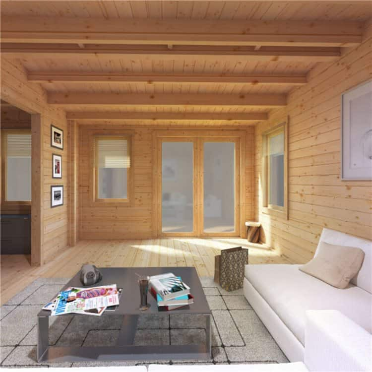 Turning your log cabin into a relaxation haven