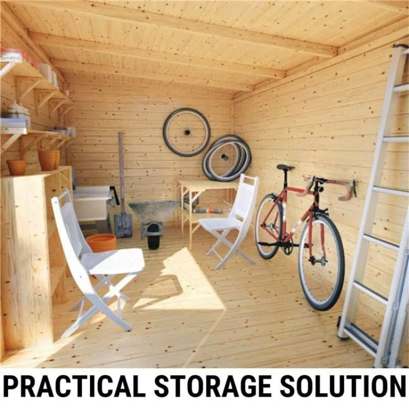 turn your shed into a practical storage solution
