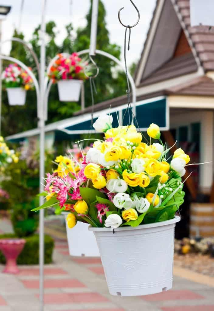 shutterstock 106378649 704x1024 10 Creative Recycled Hanging Basket Ideas