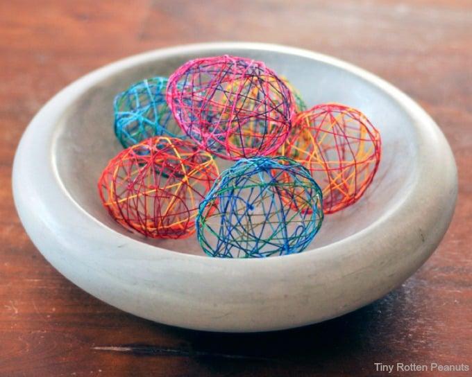 stringeggsinbowl Easter Decoration Ideas