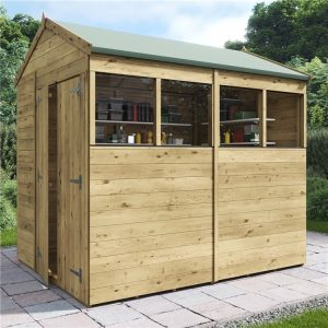 apex shed pressure treated