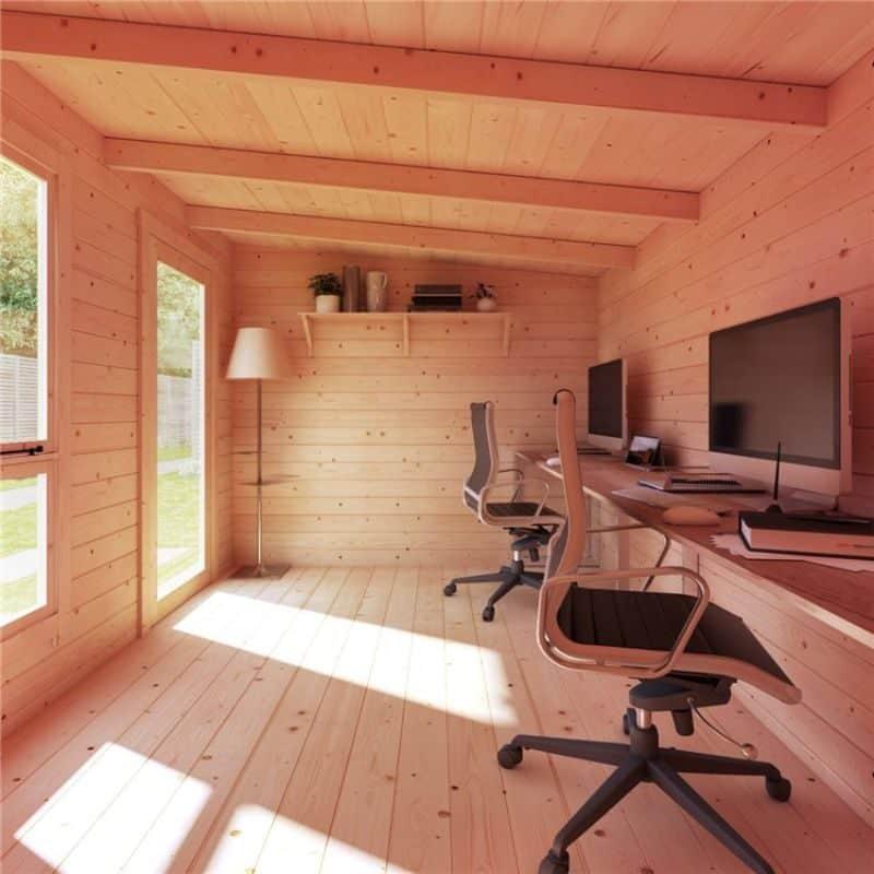 use your Tianna Log Cabin Summerhouse as a garden office