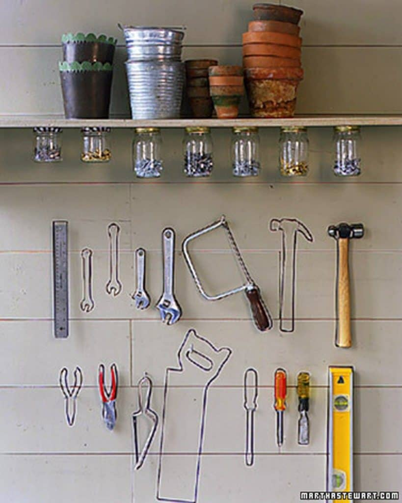 tool wall 819x1024 Brilliant Garden Shed and Garage Organising Ideas (A Complete Project Guide)