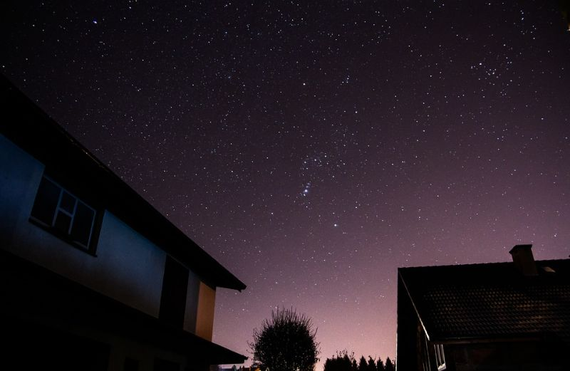 You can relax while stargazing in your winter summer house