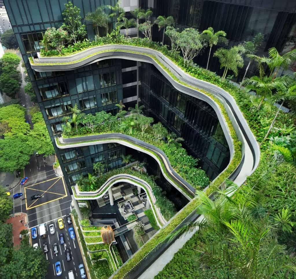vertical park hotel singapore 5 Amazing Vertical Gardens