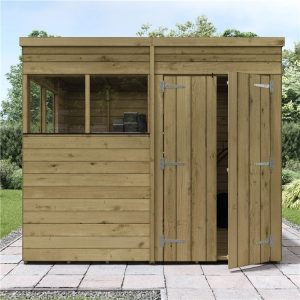 Pressure treated garden shed