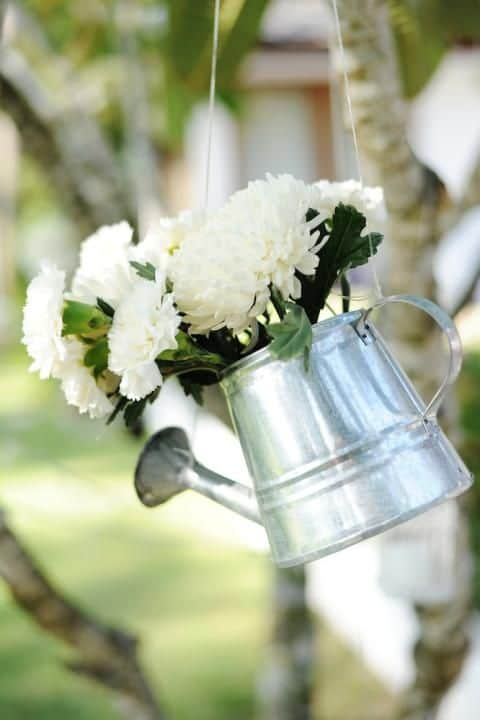 watering can 10 Creative Recycled Hanging Basket Ideas