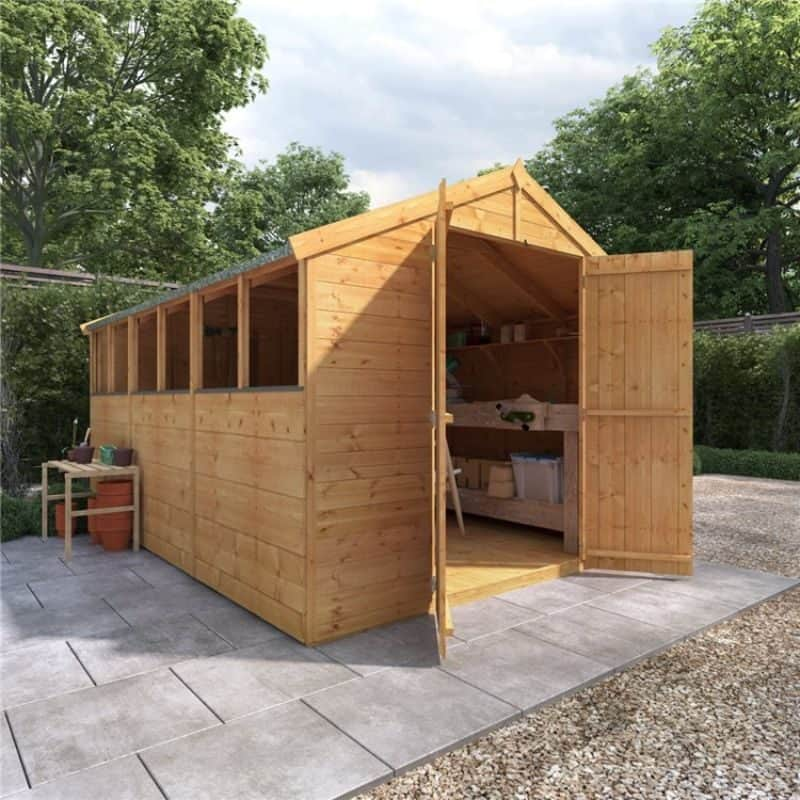 wooden shed maintenance
