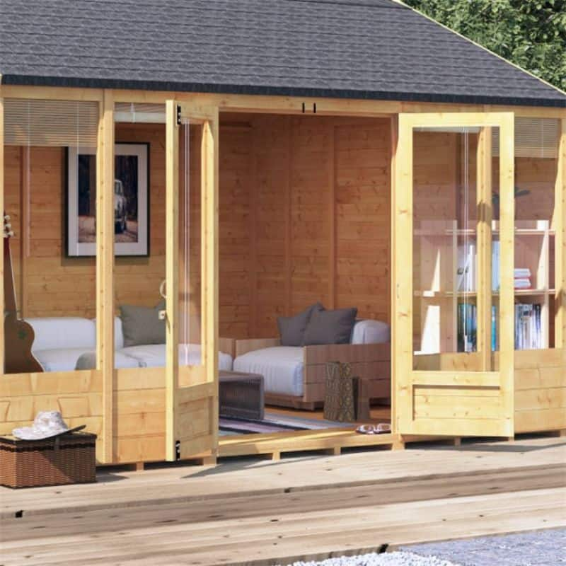 Ensuring your summer house walls are thick enough to keep in the heat