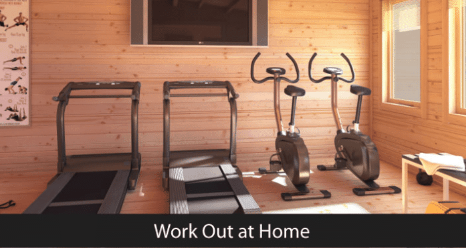 You can use your winter summer house as a gym