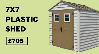 7x7 StoreMax Outdoor Plastic Shed Inc Foundation Kit