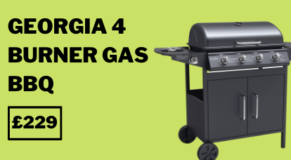 georgia black 4 burner bbq
