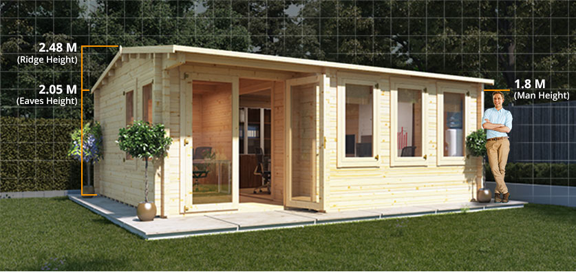 home office garden building. increased headroom home office garden building i