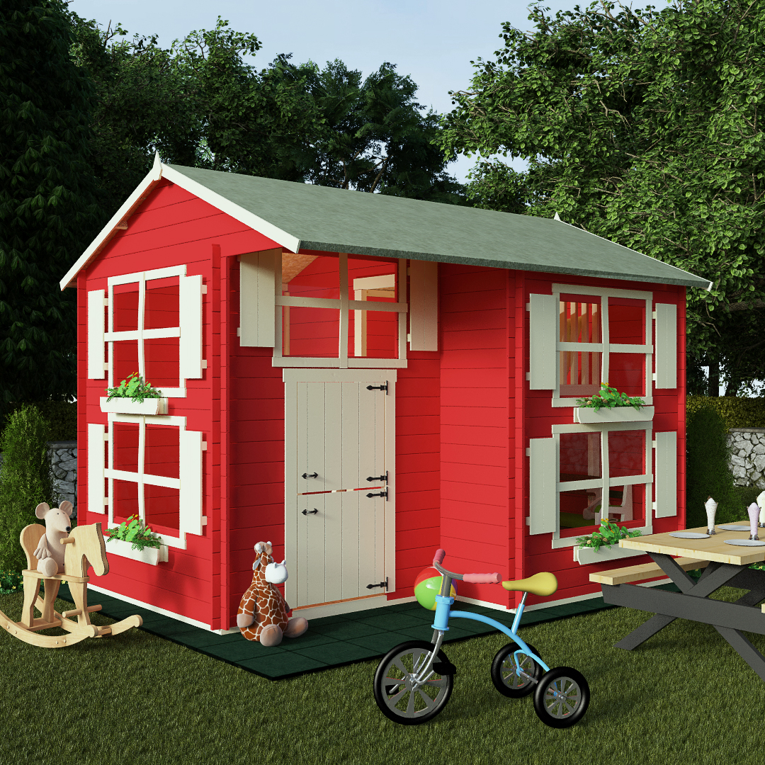 BillyOh Mad Dash 3.0 x 2.5m Annex Log Cabin Wooden Playhouse
