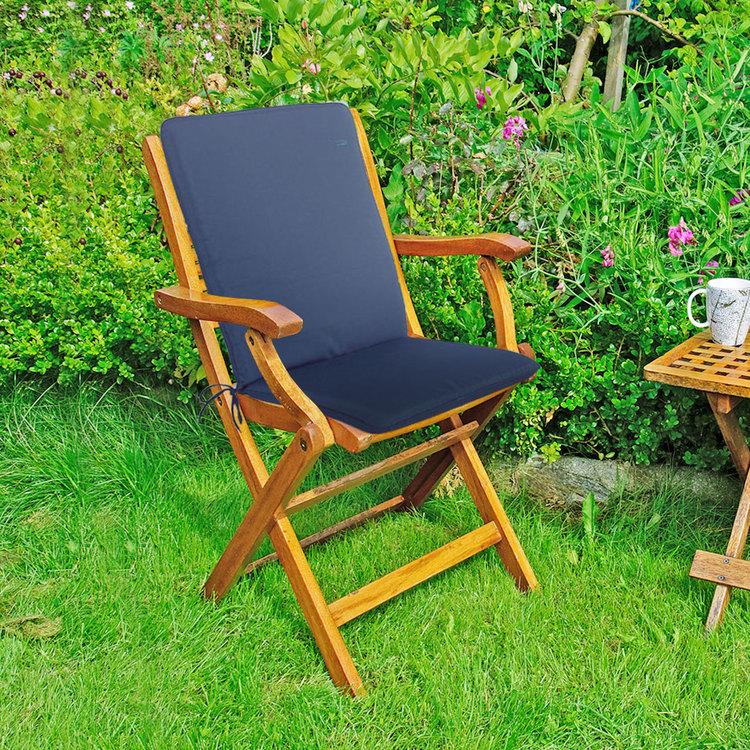 CC - Garden Furniture Cushions - Seat Pad Back - Navy Blue