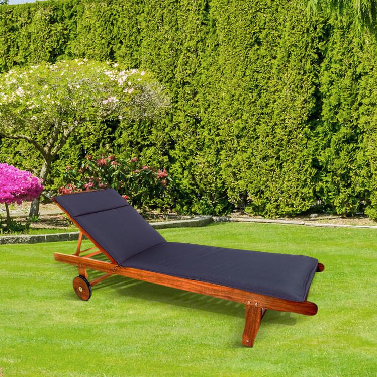 CC - Garden Lounger Cushion - Navy Blue