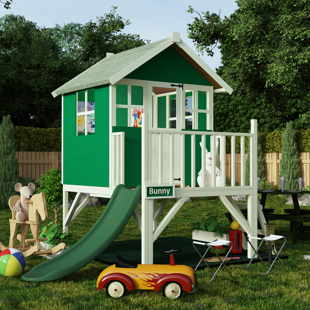 6x7 Wooden Playhouse - BillyOh Mad Dash Bunny Tower Xtra Outdoor Play house