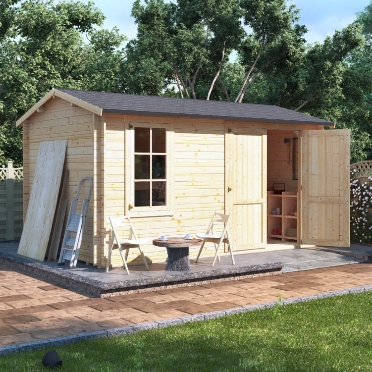 BillyOh Traditional Log Cabin Workshop - W5.5m x D3.5m - 70mm
