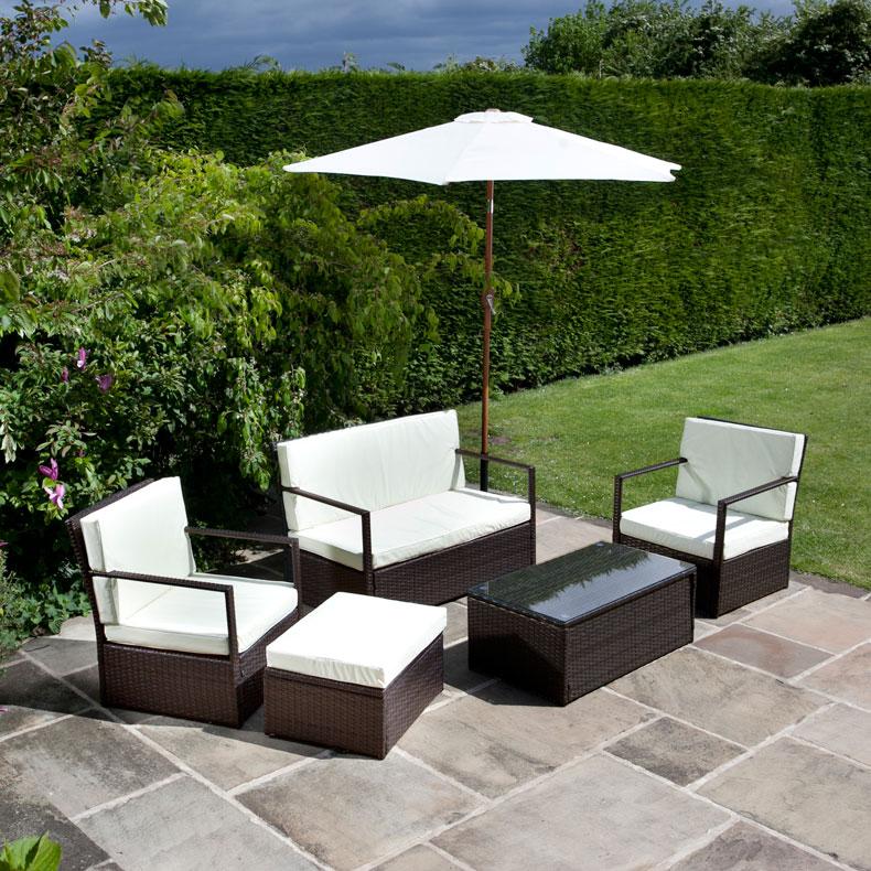 BillyOh Sandringham Mocha Rattan Garden Sofa 4 Seater Set