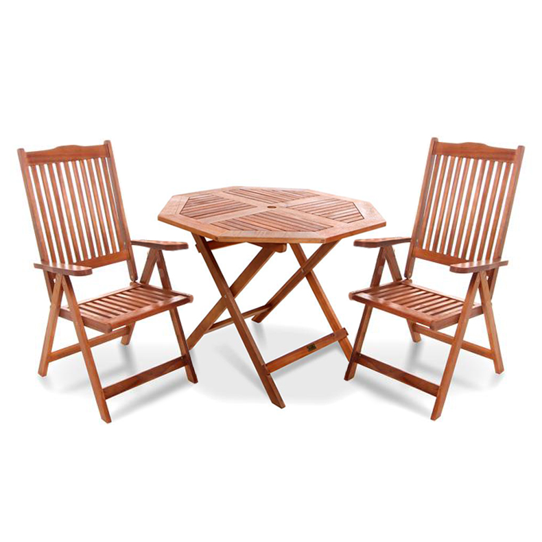 BillyOh Windsor 1.0m Octagonal Dining Set 2 Recliner Chair