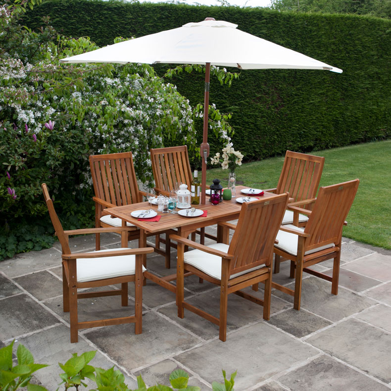 6 Seat Garden Table And Chair Sets From The Gardening Website
