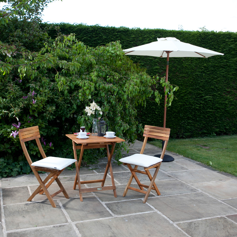 BillyOh 2 seater Windsor 0.7m Acacia Wooden Square Bistro Set