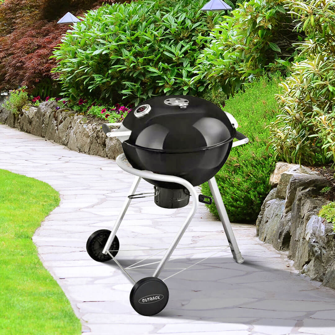 Outback Charcoal 57cm Black Kettle Barbecue