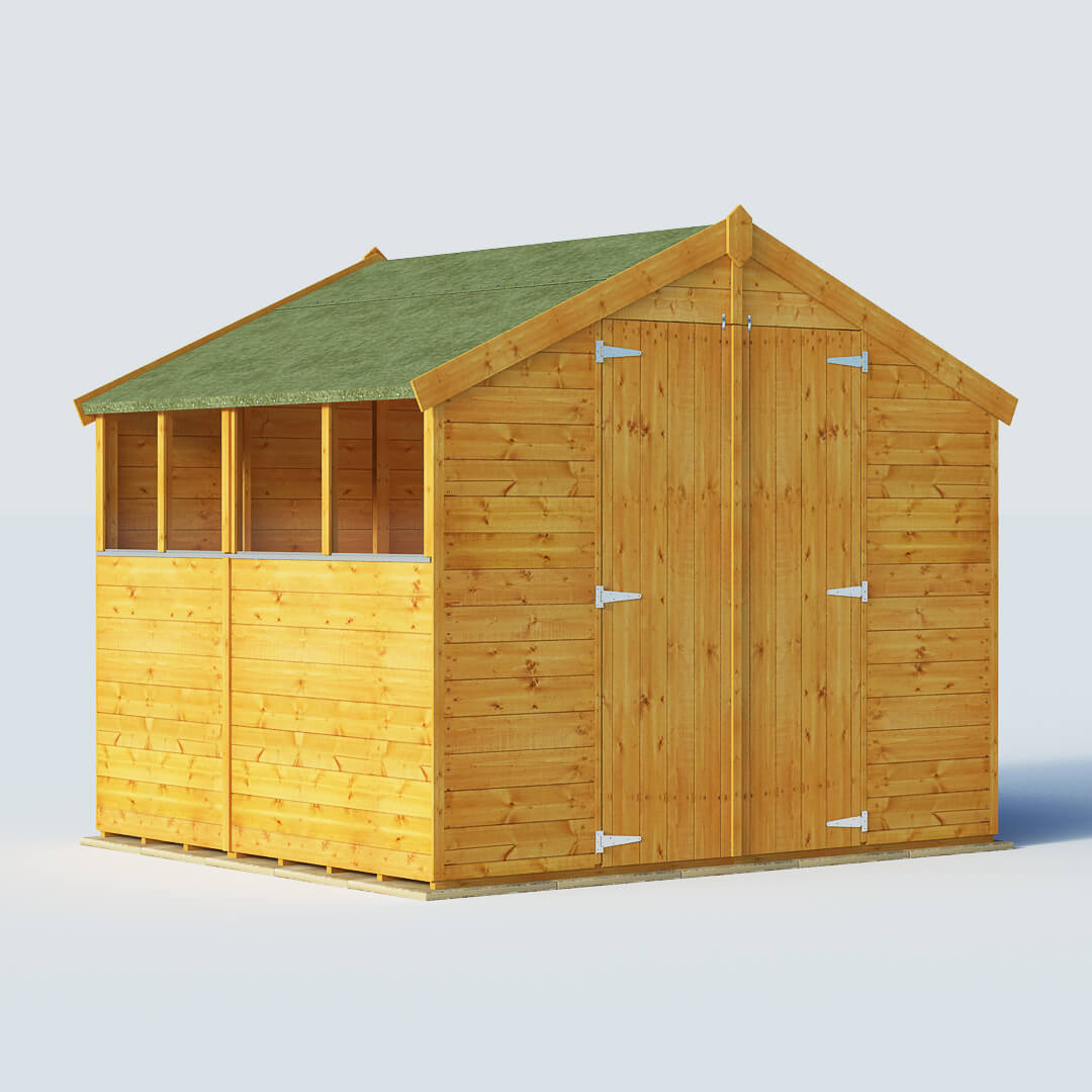 Billyoh 6 x 8 windowed tongue and groove apex garden shed for Garden shed 8 x 6
