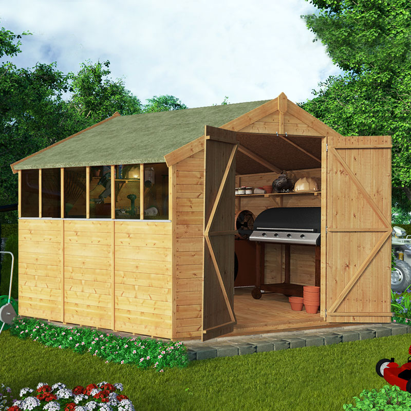 BillyOh 9 x 8 Windowed Tongue and Groove Apex Garden Shed 4000 Range